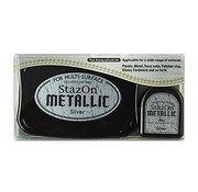 FARBE / STEMPELKISSEN StaZon Stempeltinte, Metallic silber