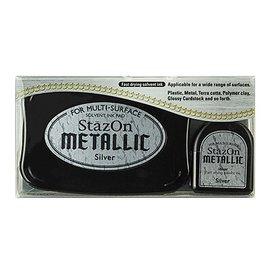 FARBE / STEMPELKISSEN tinta de la estampilla StazOn, plata metálica