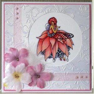 Crafter's Companion A6 Frou Frou Unmounted Gummi Designer Stempel Set - Glanz und Glamour