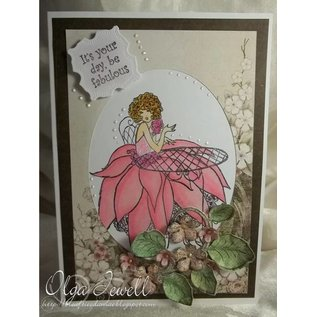 Crafter's Companion A6 Frou Frou Unmounted Rubber Stamp Set Designer - glitter en glamour
