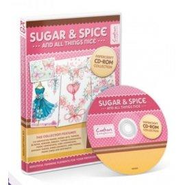 Crafter's Companion Sugar & Spice manualidades en papel CD-ROM de la colección