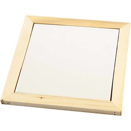 Objekten zum Dekorieren / objects for decorating Posavasos de porcelana blanco con marco de madera