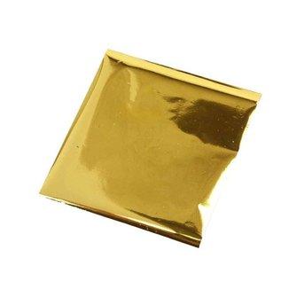 BASTELZUBEHÖR, WERKZEUG UND AUFBEWAHRUNG pellicola di trasferimento, foglio 10x10 cm, 30 fogli, oro