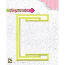 Nellie Snellen Corte y estampación plantillas: Desplazamiento de tarjetas / BÁSICO deslizante de la parte