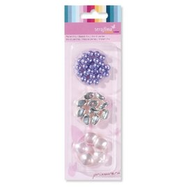 Schmuck Gestalten / Jewellery art Mezcle perlas, púrpura-rosa