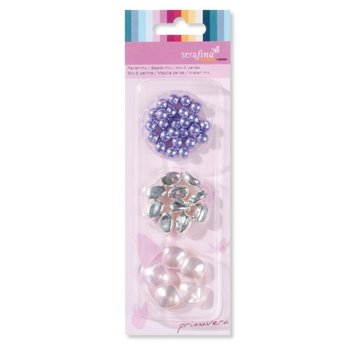 Schmuck Gestalten / Jewellery art Mescolare perline, viola-rosa