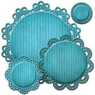 Spellbinders und Rayher Stampen en Embossing stencil, Spellbinders, kant sierlijst rond