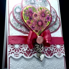 CREATIVE EXPRESSIONS und COUTURE CREATIONS Rubber stamp, Heart of Blossoms