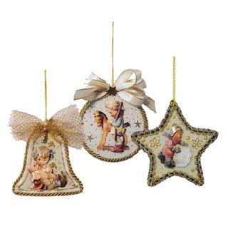 Embellishments / Verzierungen 3 acrylglasruiten, vorm: bel, rond en ster
