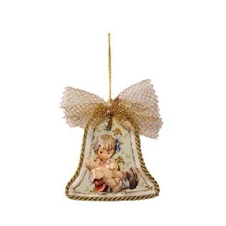 Embellishments / Verzierungen 3 lastre di vetro acrilico, forma: campana, rotonda e stella