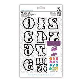 Docrafts / X-Cut X-Cut, stencil taglio con i singoli, grandi numeri