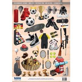 Bilder, 3D Bilder und ausgestanzte Teile usw... A4 cut ark, Tema: Idrett
