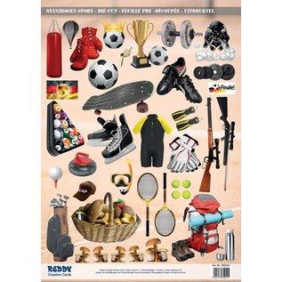 Bilder, 3D Bilder und ausgestanzte Teile usw... A4 Stanzbogen, Thema: Sport