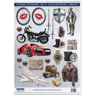 Embellishments / Verzierungen A4 cut sheets, Topic: Men designs