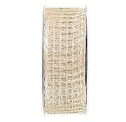 Embellishments / Verzierungen Jute mesh band, band network, width 70 mm, cream, sold by the meter