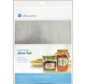Silhouette Printable sticker film - Silver