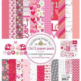 Designer Papier Scrapbooking: 30,5 x 30,5 cm Papier Kort og klistrebok papirblokk, 30,5 x 30,5 cm