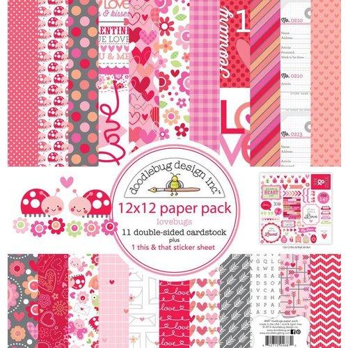 Designer Papier Scrapbooking: 30,5 x 30,5 cm Papier Kort og scrapbog papirblok, 30,5 x 30,5 cm