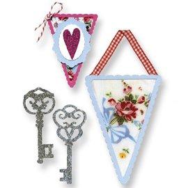 Sizzix Estampación plantilla, banners y llaves