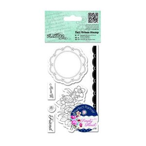 Docrafts / Papermania / Urban Rubber stamps, roses, lace doily label and border