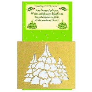 Schablonen, für verschiedene Techniken / Templates Embossingschablonen, Weihnachtsbaümen