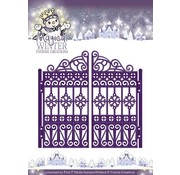 Yvonne Creations Stamping and Embossing stencil, pretty goal