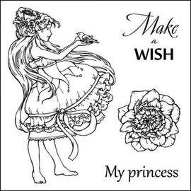 """Stempel / Stamp: Transparent Transparent stamps set, """"Make A Wish"""""""