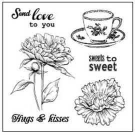 """Stempel / Stamp: Transparent Gennemsigtige frimærker sæt, """"Slik til søde"""""""