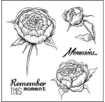 """Stempel / Stamp: Transparent Transparent stamps set, """"roses"""""""
