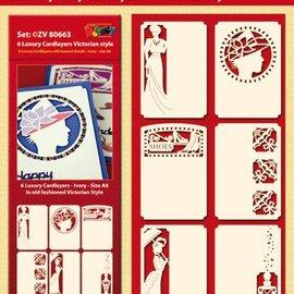 KARTEN und Zubehör / Cards 6 Luksus kort layouts, victoriansk stil