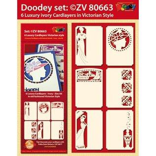 KARTEN und Zubehör / Cards 6 Luxe kaart lay-outs, Victoriaanse stijl