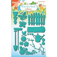 Punching and embossing stencil set, garden set