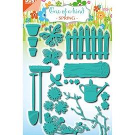 Joy!Crafts / Jeanine´s Art, Hobby Solutions Dies /  Perforación y juego de cliché de estampado, juego de jardín