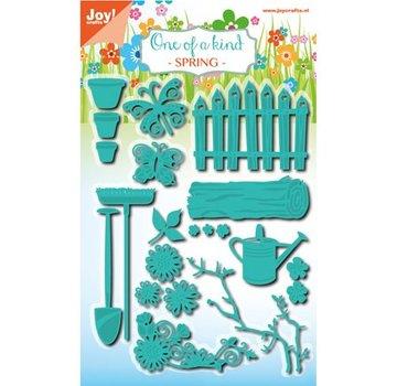 Joy!Crafts / Jeanine´s Art, Hobby Solutions Dies /  Stansning og prægning stencil sæt, haven sæt