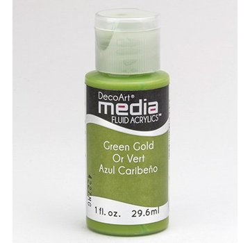 DecoArt acrilici fluido dei media, Oro Verde