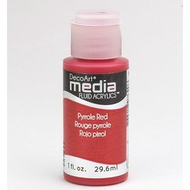 DecoArt media Fluid acrylics, Pyrrole Red