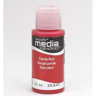 DecoArt media fluid acrylics, pyrroles Red