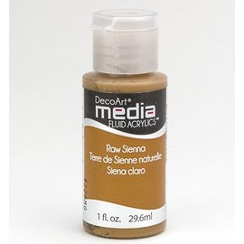 DecoArt media fluid acrylics, Raw Sienna