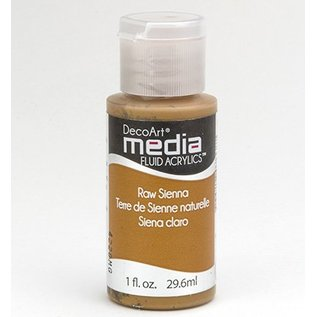 DecoArt media fluid acrylics, Raw Sienna