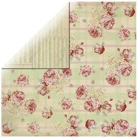 Designer Papier Scrapbooking: 30,5 x 30,5 cm Papier Rozen Designer Paper