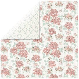 Designer Papier Scrapbooking: 30,5 x 30,5 cm Papier 1 sheet Rosen Designer Paper Bouquet