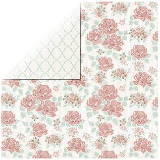 Designer Papier Scrapbooking: 30,5 x 30,5 cm Papier 1 Bogen Rosen Designerpapier Bouquet