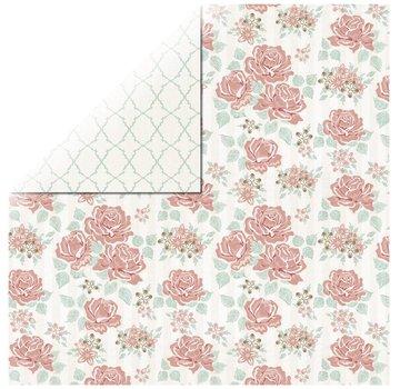 Designer Papier Scrapbooking: 30,5 x 30,5 cm Papier 1 foglio di carta Rosen Designer Bouquet