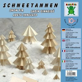 BILDER / PICTURES: Studio Light, Staf Wesenbeek, Willem Haenraets Bastelset: le sapin de la neige 10 feuilles 30x30cm 125g / m² Elefantenhaut