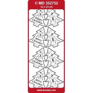 STICKER / AUTOCOLLANT Stickers, etiketten als kerstbomen
