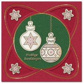 REDDY Ricamare adesivi, palla di Natale per