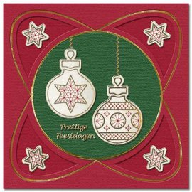 REDDY Borduur stickers, kerstbal voor