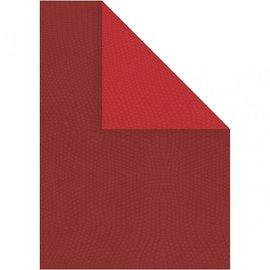 Karten und Scrapbooking Papier, Papier blöcke 10 feuilles structure de carton, 21x30 cm A4, rouge, classe supplémentaire