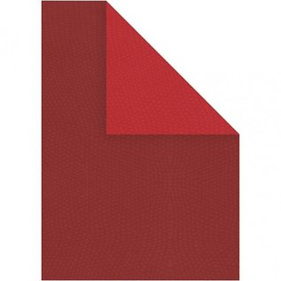 Karten und Scrapbooking Papier, Papier blöcke 10 sheet structure cardboard, A4 21x30 cm, red, extra class