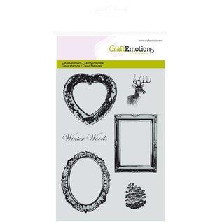 Craftemotions Transparent stamps, frames and reindeer motif